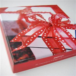 20 Wrapped Gift Notecards Boxed