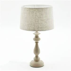 Large Cream Lamp and Linen Shade