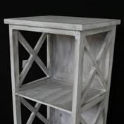 Grey wash side table / bedside