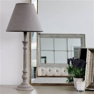 Grey Table Lamp Grey Shade
