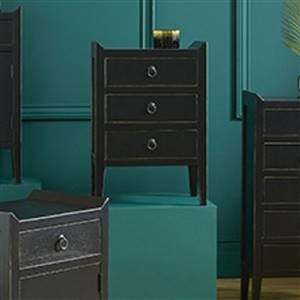 Black 3 Drawer Storage Unit