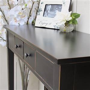 Black console table SECONDS