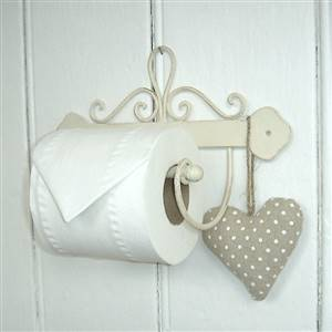 French scroll toilet roll holder