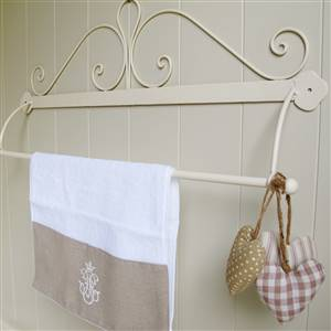 Cream French Scroll Towel Rail