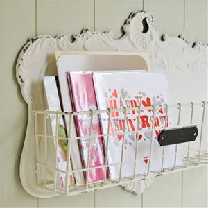 Cream Wall Storage Basket