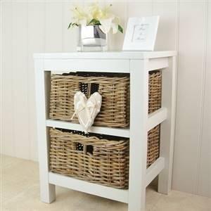 2 Willow Basket Storage Unit