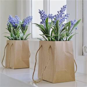 Faux Lavender Gift Bag