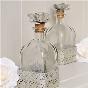 Flower Top Glass Bottle