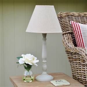 French Grey Lamp Linen Shade