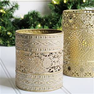 Gold candle holder Medium