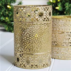 Gold candle holder Large
