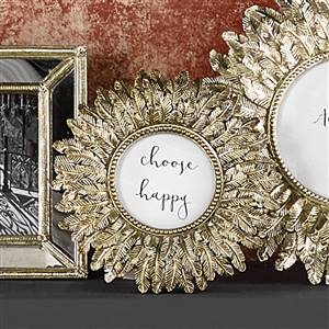 Gold Feather Photo Frame