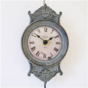 Green Pendulum Wall Clock