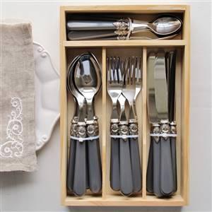 Grey Cutlery 24pc Tray Set