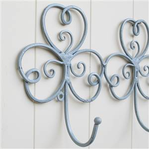 Grey Scroll Triple Wall Hook