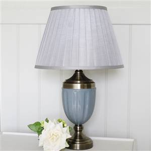 Grey Table Lamp Base and Shade