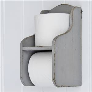 Grey Toilet Roll Holder Shelf