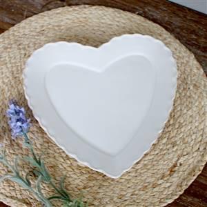 White Heart Plate Dish