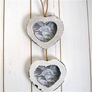 Triple small heart hanging frames