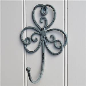 Grey Scroll Wall Hook