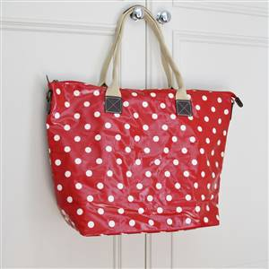 Polka Dot Carry All Bag Red