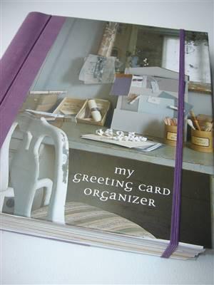 My greeting card organizer/journal