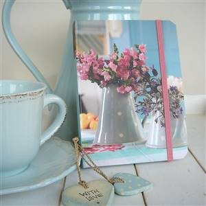 Country flowers notebook