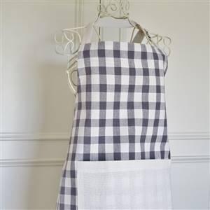 Charcoal check apron