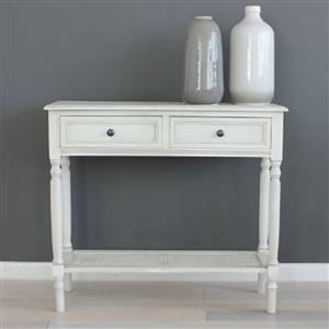 Swedish White Console Table