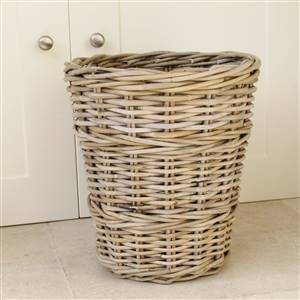 Wicker Wastepaper Bin Basket