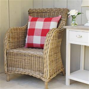 Armchair Rattan Grey wash