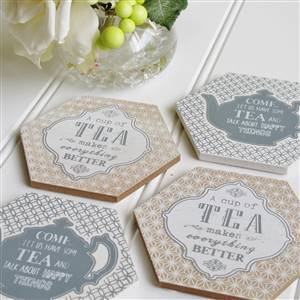 Tea Coasters Set of 4