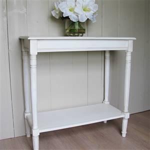 White Console Table With Shelf Ashley Range