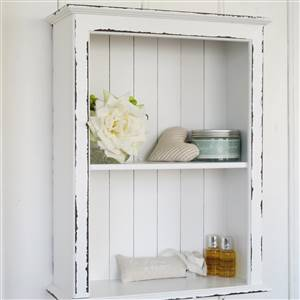 White Double Wall Shelf