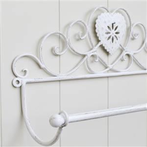 Cream Heart Towel Rail