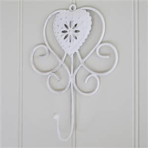 White Heart Wall Hook
