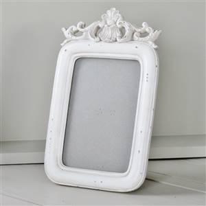 White Ornate Photo Frame