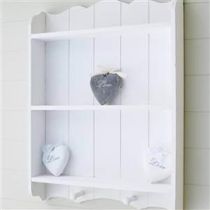White Wall Shelf With Hooks