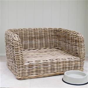 Wicker Dog Bed Basket Luxury