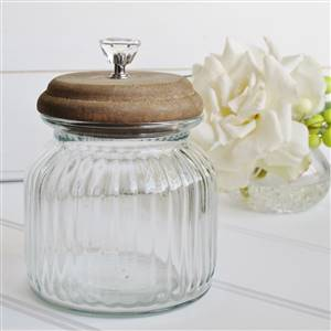 Wooden Lidded Storage Jar