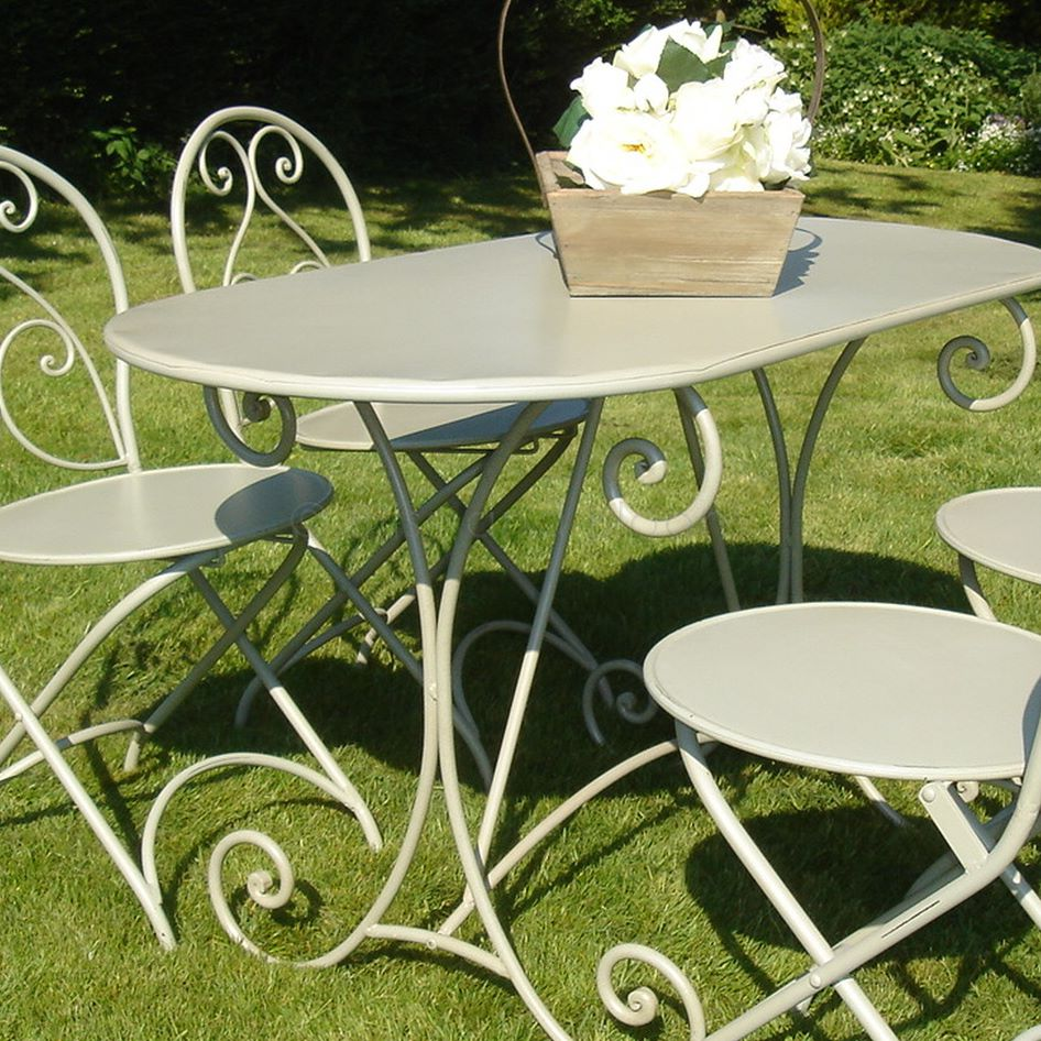 French style garden furniture table   Bliss and Bloom