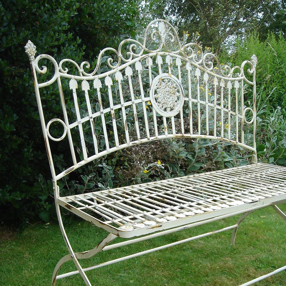 Terrific French Style Garden Bench Bliss And Bloom Machost Co Dining Chair Design Ideas Machostcouk