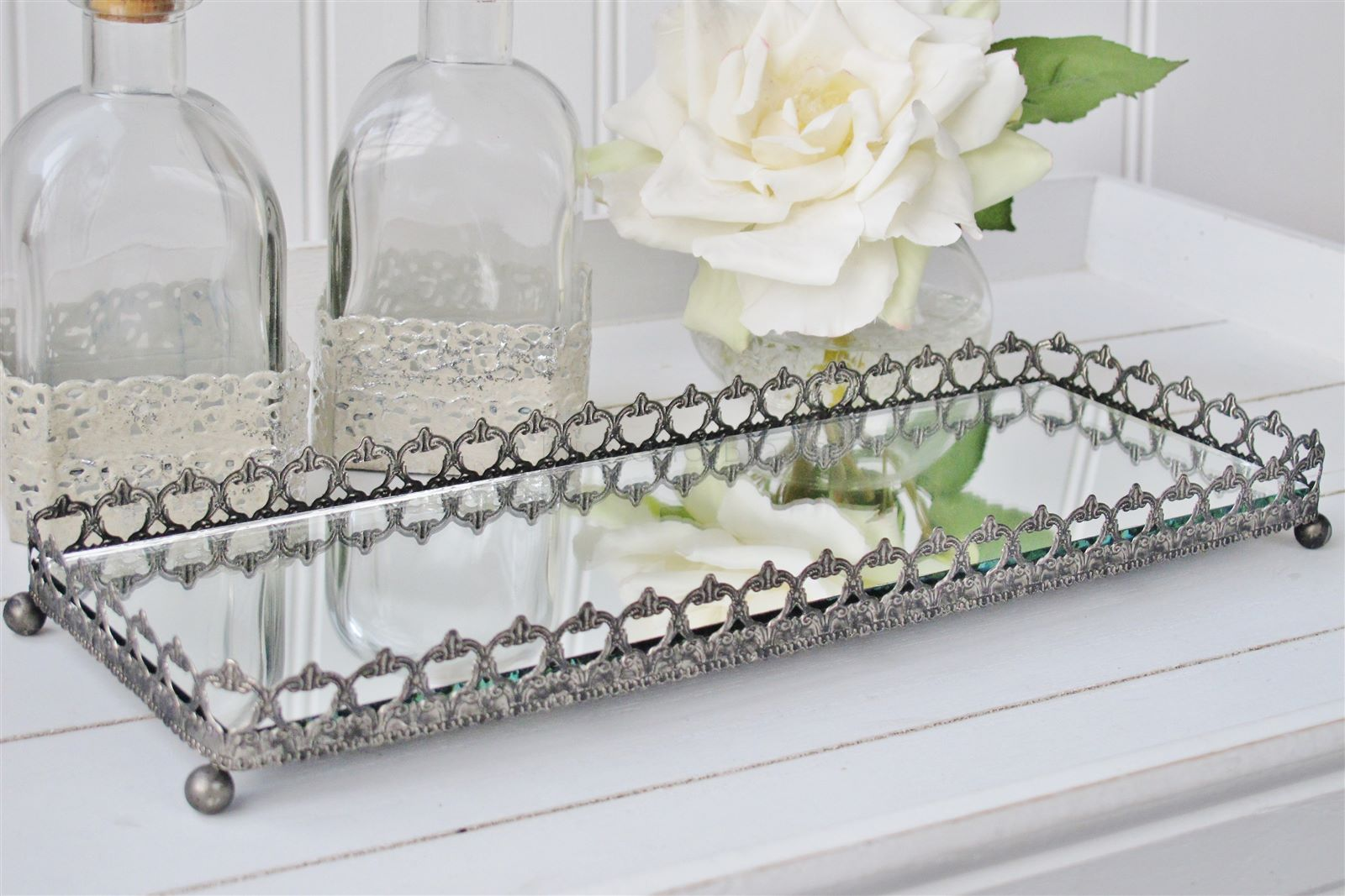 Silver Mirror Trinket Tray Bliss And Bloom Ltd