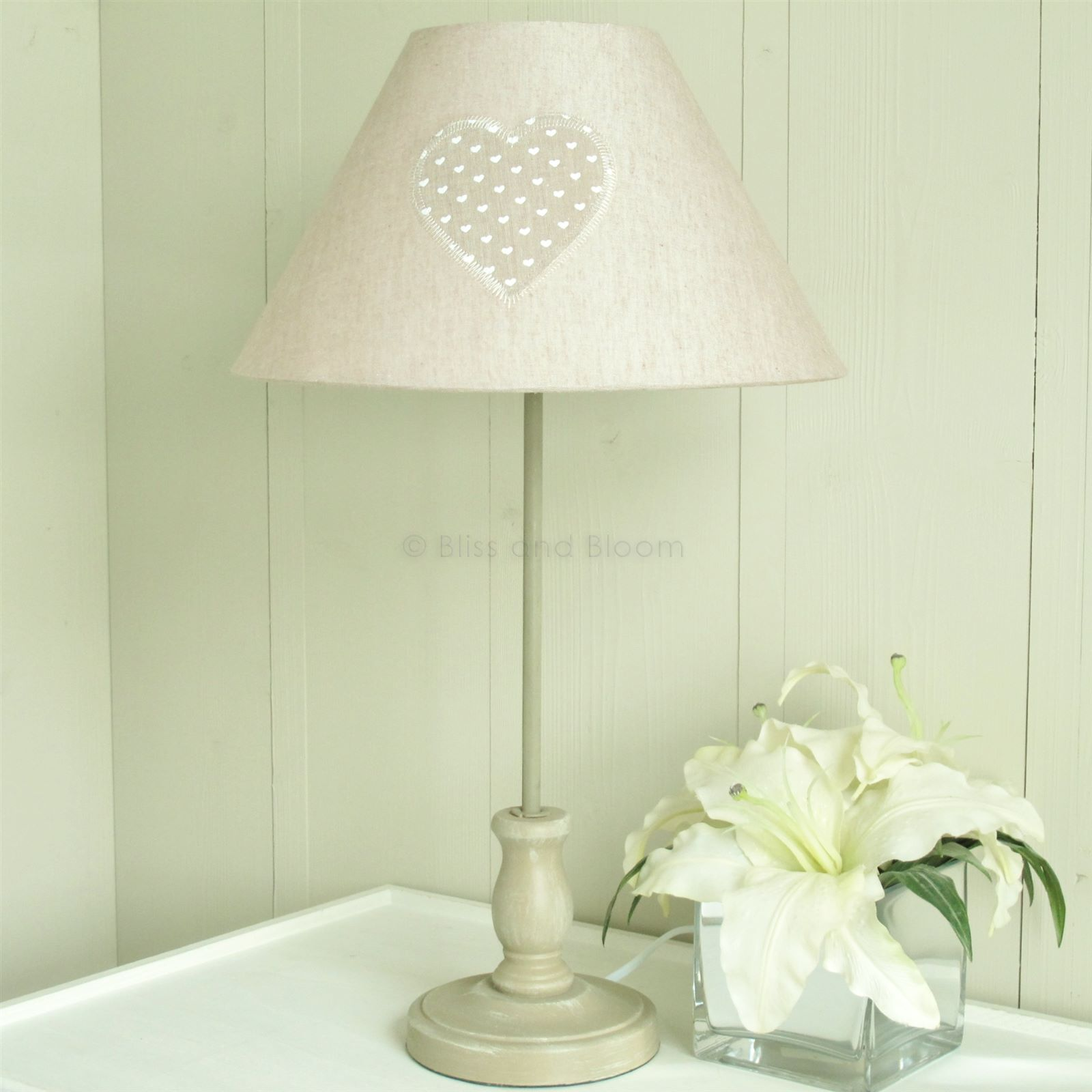 Heart Beige Table Lamp Bliss And Bloom