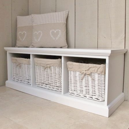 3 Basket Storage Bench Seconds Bliss And Bloom