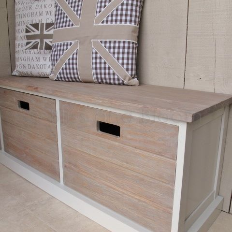 2 Drawer Storage Unit Bench Seat Bliss And Bloom