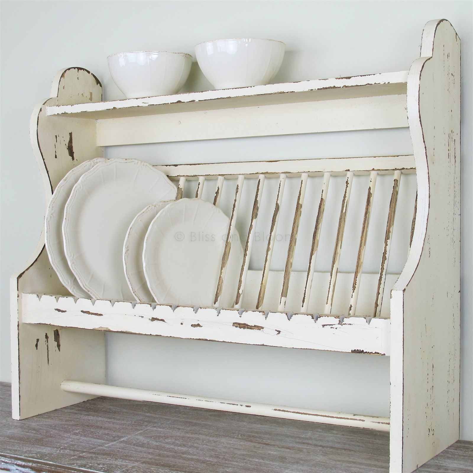 Wooden Plate Rack Shelf Bliss And Bloom