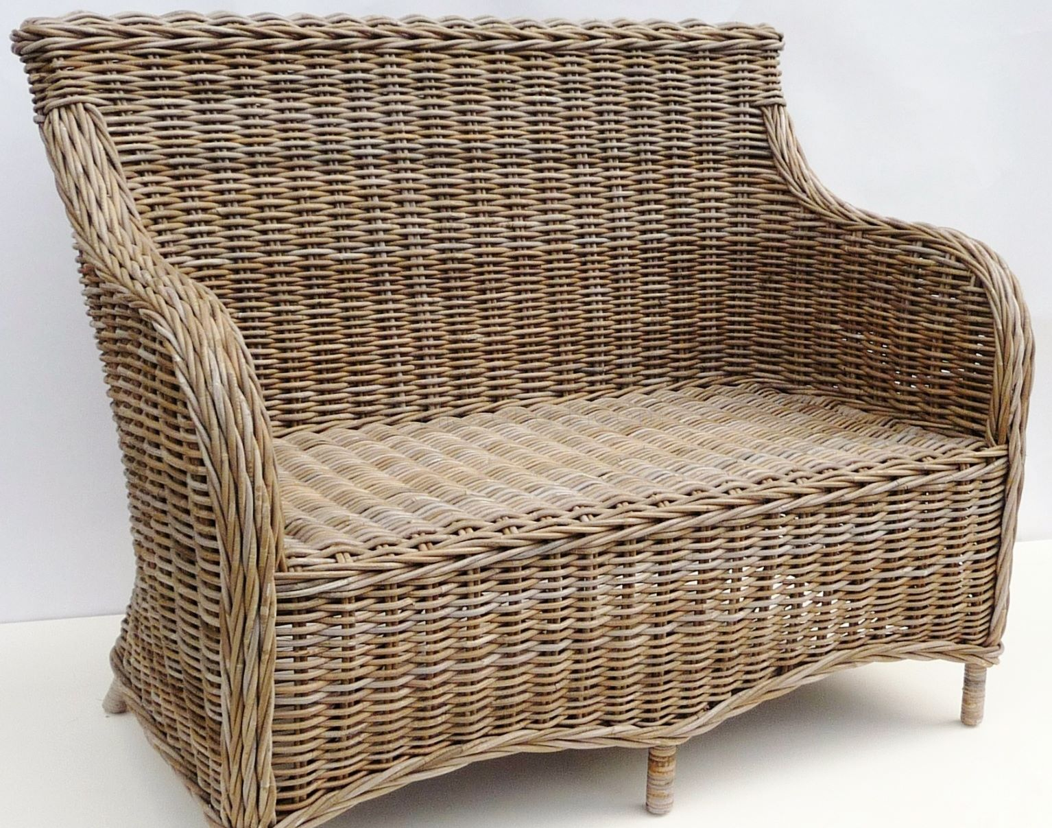 Grey Rattan Sofa 2 Seater Bliss And Bloom