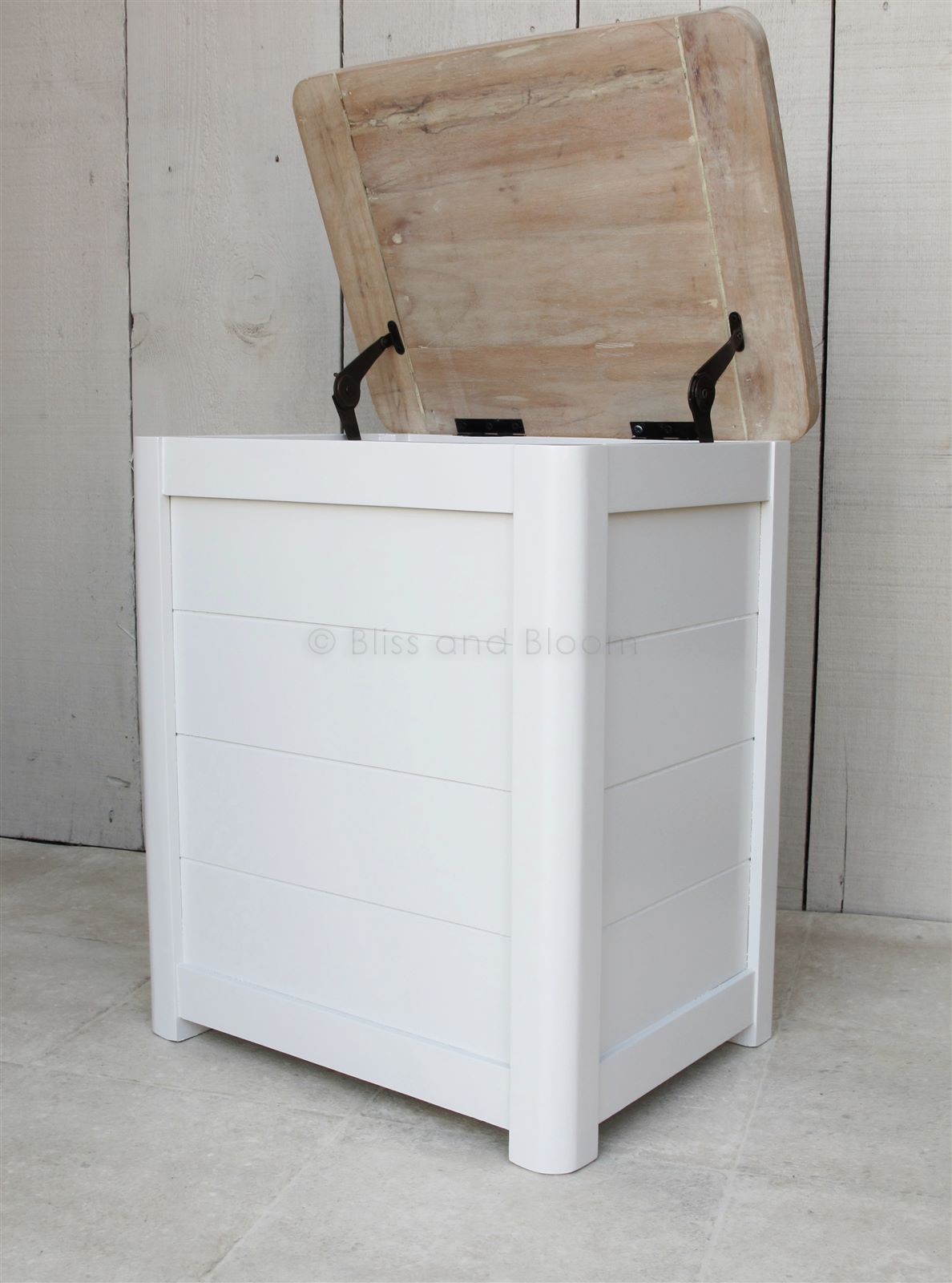 Wooden Laundry Linen Bin Small Bliss And Bloom