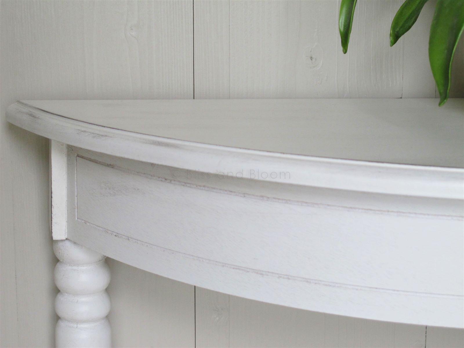 ... White Half Moon Console Table Ashley Range ...